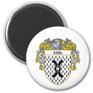 Mills Coat of Arms (Mantled) Magnet