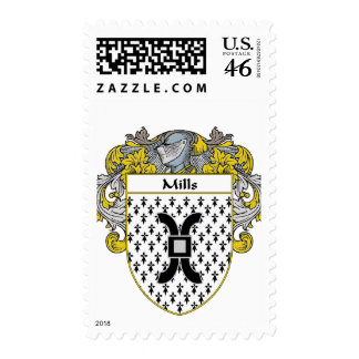 Mills Coat of Arms (Mantled) Stamp