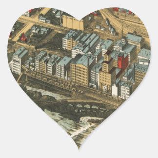 Mills District, Minneapolis 1895 Heart Sticker
