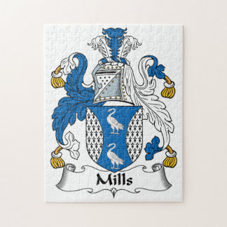 Mills Family Crest Jigsaw Puzzle