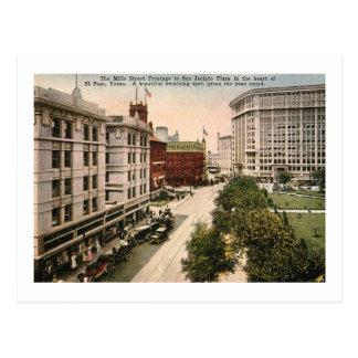 Mills St., El Paso, Texas Vintage Postcard
