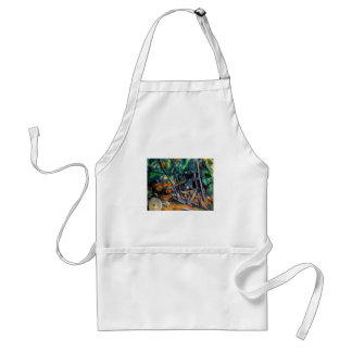 Millstone in the Park by Paul Cezanne colorful art Adult Apron
