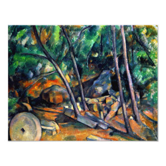 Millstone in the Park by Paul Cezanne colorful art Card