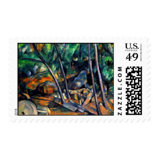 Millstone in the Park by Paul Cezanne colorful art Postage
