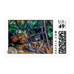 Millstone in the Park by Paul Cezanne colorful art Postage Stamp