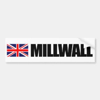Millwall bandera británica etiqueta de parachoque