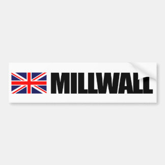 Millwall, British Flag Bumper Sticker