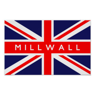 Millwall UK Flag Poster