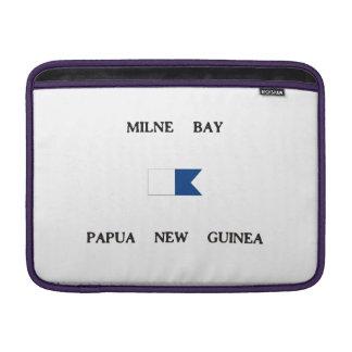 Milne Bay Papua New Guinea Alpha Dive Flag Sleeves For MacBook Air