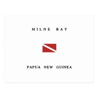 Milne Bay Papua New Guinea Scuba Dive Flag Postcard