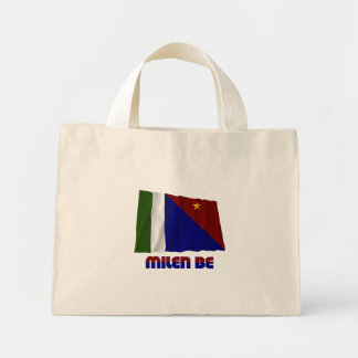 Milne Bay Province Waving Flag Canvas Bags