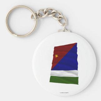 Milne Bay Province Waving Flag Keychain