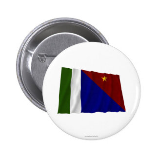 Milne Bay Province Waving Flag Pinback Button