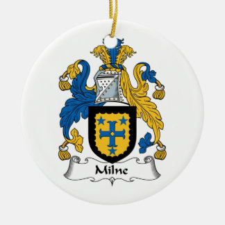 Milne Family Crest Ceramic Ornament