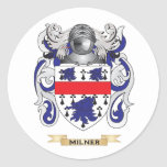 Milner Coat of Arms (Family Crest) Round Sticker