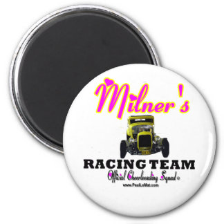 Milner Racing Team Cheer Squad 2 Inch Round Magnet