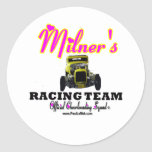 Milner Racing Team Cheer Squad Round Sticker