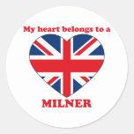 Milner Round Stickers