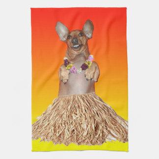 Milner The Dancing Dachshund Kitchen Towel