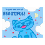 Milo Blue Cat Be Your Own Kind Of Beautiful Postcard