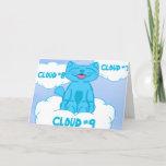 Milo Blue Cat Cloud Nine Card