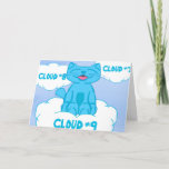 Milo Blue Cat Cloud Nine Get Well Card