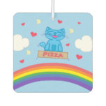 Milo Blue Cat Pizza Box Over Rainbow Air Freshener