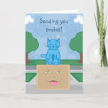 Milo Blue Cat Smile Box Card