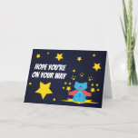 Milo Blue Cat Superhero Superstar Day Card