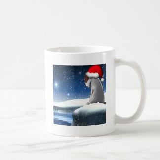 Milo del navidad (el perrito de bull terrier) taza clásica