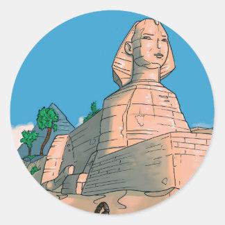 Milo in Egypt Classic Round Sticker