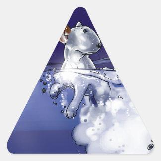 Milo in the ocean triangle sticker