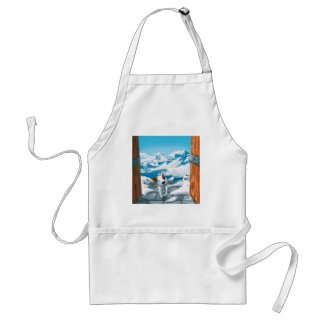 Milo is here! adult apron