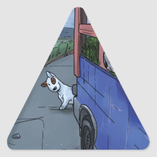 Milo meets Big Triangle Sticker
