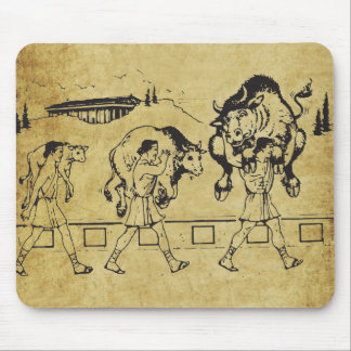 Milo of Croton And The Bull - Gym Motivational Mouse Pad