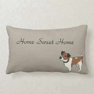 Milo the jack Russell/Home sweet home Lumbar Pillow