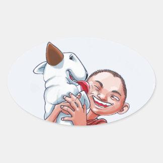 Milo & Ze Oval Sticker