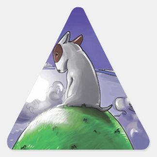 Milo & Ze Triangle Sticker