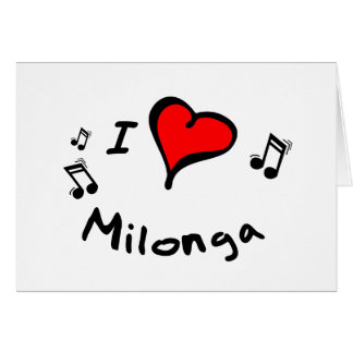 Milonga I Heart-Love Gift Greeting Cards