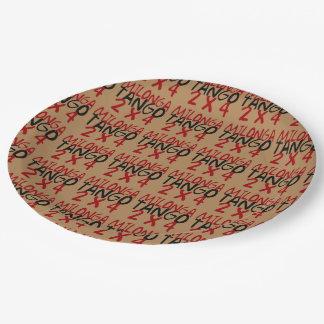 Milonga Tango Paper Plate