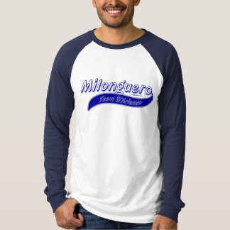 milonguero team D'Arienzo blue gray Tee Shirt