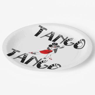 Milongueros Tango Dancers Paper Plate
