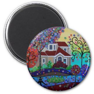 Milo's Whimsical Happy Summer Garden Magnet