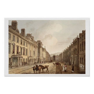 Milsom Street, from 'Bath Illustrated by a Series Poster