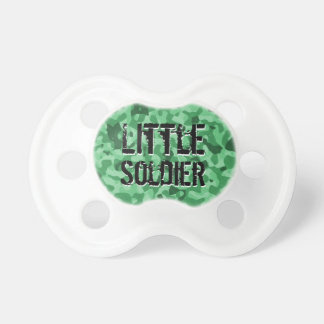 Miltary Green Camo Little Soldier Baby Boy Binky Pacifier