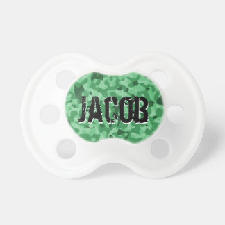 Miltary Green Camo | Personalized Baby Boy Binky Pacifier