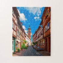 Miltenberg Odenwald Bavaria Germany. Jigsaw Puzzle
