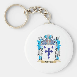 Milton Coat of Arms - Family Crest Keychain