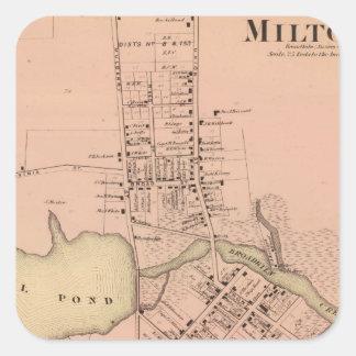 Milton Delaware Pegatina Cuadrada