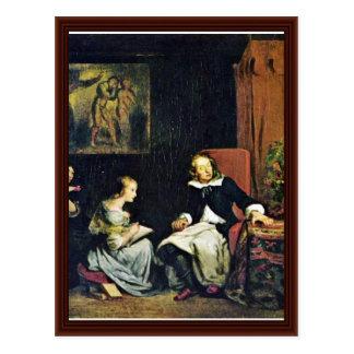 Milton dictó a sus hijas tarjeta postal